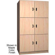 Ironwood 2 Compartment Solid Door Wood Storage Cabinet, Maple Color