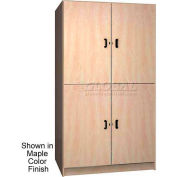 Ironwood 2 Compartment Wardrobe Storage Cabinet, Solid Door, Maple Color