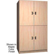 Ironwood 2 Compartment Wardrobe  Cabinet, Solid Door, Oiled Cherry Color