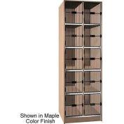 """Ironwood 10 Compartment Black Grill Door 30"""" D Locker, Natural Oak Color"""