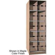 Ironwood 10 Compartment Black Grill Door Storage Locker, Natural Oak Color
