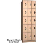 Ironwood 15 Compartment Solid Door Storage Locker, Natural Oak Color