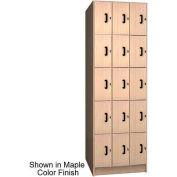 Ironwood 15 Compartment Solid Door Storage Locker, Natural Oak Color