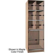 "Ironwood 6 Upper, 1 Lower Compartment Black Grill Door 30"" D Locker, Maple"