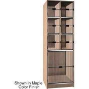 "Ironwood 6 Upper, 1 Lower Compartment Black Grill Door 30"" D Locker, Maple"