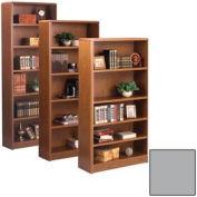 """Summit 60""""H Bookcase - 32-1/8""""W x 11-7/8""""D x 59-1/2""""H Gray"""