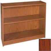 """30"""" Adjustable Bookcase - 36""""W x 11-7/8""""D x 30-5/8""""H Mahogany"""
