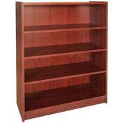 """48"""" Adjustable Bookcase - 36""""W x 11-7/8""""D x 47-1/8""""H Mahogany"""