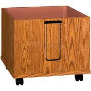"""Book Drop Cart - 26-1/8""""W x 24-3/8""""D x 24-3/8""""H Medium Oak"""
