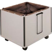"Book Drop Cart - 26-1/8""W x 24-3/8""D x 24-3/8""H Gray"