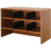 "Desk Top Organizer 29""W 2-Shelves - 29""W x 12""D x 18""H Medium Oak"