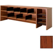 "Desk Top Organizer High Capacity - 58""W x 12""D x 18""H Mahogany"