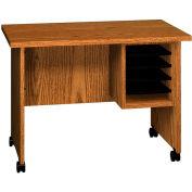 "Ironwood Small Computer Stand, 36""W x 22""D x 26""H, Medium Oak"
