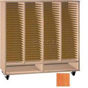 Ironwood Mfg. FS Series - 100 Open Folio Music Storage Cabinet - Oiled Cherry