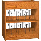 "Book Browser - 37""W x 23-7/8""D x 30""H Medium Oak"