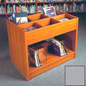 "Book Browser - 37""W x 23-7/8""D x 30""H Gray"