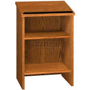 "Dictionary Stand - 23-3/8""W x 16""D x 35-1/8""H Medium Oak"