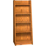 "Paperback Display - End-of-Range 60H - 23-7/8""W x 18""D x 60""H Medium Oak"
