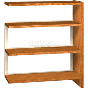 "42"" Single Face Shelving Adder - 36""W x 12-1/4""D x 40-7/8""H Dixie Oak"