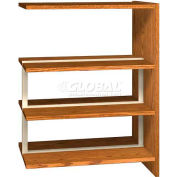 """48"""" Double Face Shelving Adder - 36""""W x 24""""D x 47-1/4""""H Oiled Cherry"""