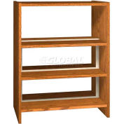 "48"" Double Face Shelving Base - 37""W x 24""D x 47-1/4""H Oiled Cherry"