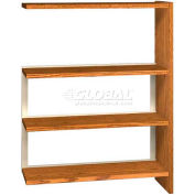 "48"" Single Face Shelving Adder - 36""W x 12-1/4""D x 47-1/4""H Oiled Cherry"