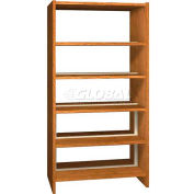"72"" Double Face Shelving Base - 37""W x 24""D x 71-1/8""H Oiled Cherry"