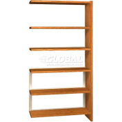 "72"" Single Face Shelving Adder - 36""W x 12-1/4""D x 71-1/8""H Amber Ash"