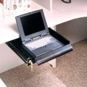 """Locking Laptop Drawer - 17""""W x 16""""D x 2""""H Black Granite"""