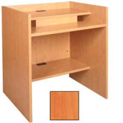 """36"""" x 39"""" Patron Access Station - 36""""W x 30""""D x 46-1/8""""H Oiled Cherry"""