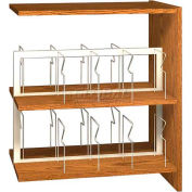 """42"""" Picture Book Shelving Adder - 36""""W x 23-7/8""""D x 40-7/8""""H Oiled Cherry"""