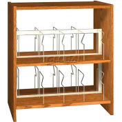 "42"" Picture Book Shelving Base - 37""W x 23-7/8""D x 40-7/8""H Dixie Oak"