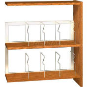 "42"" Picture Book Shelving Adder - 36""W x 12-1/2""D x 40-7/8""H Amber Ash"