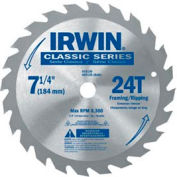 "Irwin® Classic-8-8-1/4"" X 24t X Universal Arbor Circular Saw Blade For Wood - Pkg Qty 5"