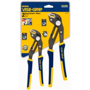 "IRWIN VISE-GRIP® 2078709 2 Piece GrooveLock V-Jaw Tongue & Groove Plier Set (8&10"")"