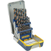 29 Pc. Drill Bit Industrial Set Case, Black and Gold Oxide