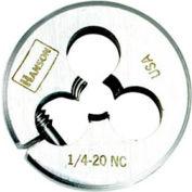 """3/8""""-16 Irwin&174; Hanson&174; Carbon Steel Round Split Die, Solid, 1"""" OD - Pkg Qty 5"""