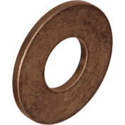 "Oilube® Powdered Metal Thrust Washer 102402, Bronze SAE 841, 1/4""ID X 1/2""OD X 1/16"" Thick - Pkg Qty 133"