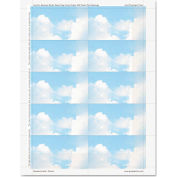 """Geographics® Clouds Design Business Suite Cards 47372S, 3-1/2"""" x 2"""", Smooth, 25/Pack"""