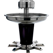 "Sanispray Washfountain, Circular, 6-User, 39""Dia. Indiv. Foot, Powder Soap, Anti-Microbial, Sand"
