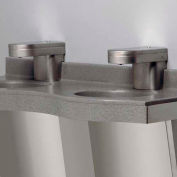"Solidwave® Lavatory System, Single User, Sensor Activation, 30"" Wide, Twilight Grey"