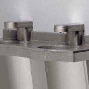 "Solidwave® Lavatory System, Three User, Sensor Activation, 90"" Wide, Twilight Grey"