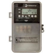 Intermatic ET1105CPD82 24-Hour 30 Amp SPST Elec Timeswitch - Clock Voltage, 120-277V NEMA 3R Plastic