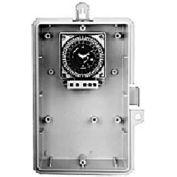 Intermatic GMXSW-O-240 7-Day, 21A SPDT Electromech Timer, NEMA 3R Outdoor Plastic Encl, 240V 60Hz