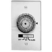 Intermatic KM2ST-2G 24-Hour, Electromechanical In-Wall Timer, 20A, 120V, White, 2 Gang Toggle