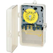 Intermatic T101P 24 Hour Dial Mechanical Time Switch, 125V, SPST,  Gray Plastic Case