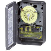 Intermatic T102 NEMA 1 - 24 Hour Dial Mechanical Time Switch, 208-277V, SPST