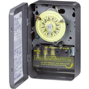 Intermatic T102R 24 Hour Dial Mechanical Time Switch, NEMA 3R Case, 208-277V, SPST
