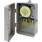 Intermatic T104P NEMA 3R - Time Switch In Plastic Enclosure, 208-277V, DPST, Gray Case