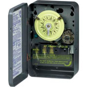 Intermatic T176 NEMA1-24 Hour Dial Time Switch W/Skipper And Optional Carryover, 208-277V, SPDT